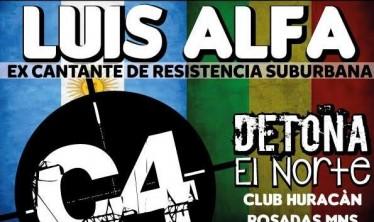 Ex cantante de Resistencia Suburbana dará un show en Posadas