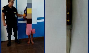 Detuvieron a un joven armado con un cuchillo en barrio San Isidro