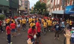Se realizó la 17ma. Bicicleteada Solidaria del Colegio Roque González