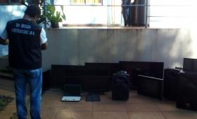 Recuperaron televisores, equipos de sonido y otros objetos robados
