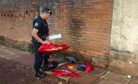 Joven detenido con motopartes robadas