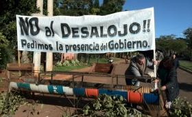 Ocupantes resisten el desalojo en la chacra 187
