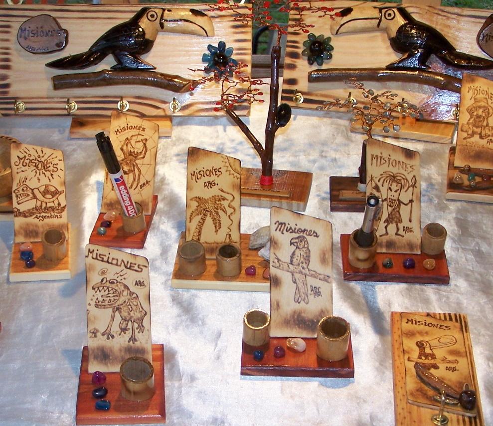 Convocan a artesanos a participar de fiesta nacional de la madera misiones cuatro Artesanias en madera