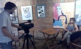 Realizan filmaciones de escritores misioneros en el marco de la Feria del Libro
