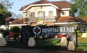 Mujer en terapia del hospital de Iguazú tras un aborto