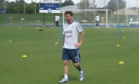 A la espera de la final, Argentina practicó en Houston