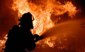 Incendio en Santa Cruz y Monseñor de Andrea