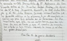 Denuncia que una maestra obligó a su hija a comer basura en San Vicente