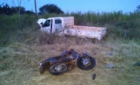 Motociclista murió al chocar de frente con un camión