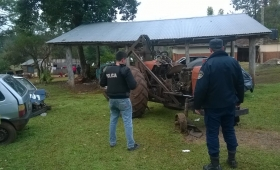Recuperan tractor robado que era ofrecido en internet