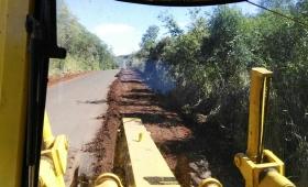 Arreglan la ruta 17 que une Eldorado e Irigoyen