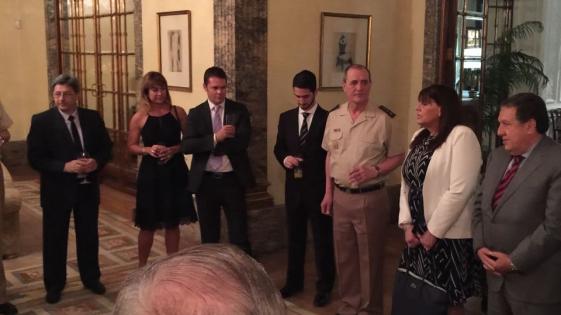 España: el Embajador Puerta recibió a Gendarmería y PNA
