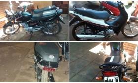 Ocho detenidos y cuatro motos secuestradas en zona Oeste