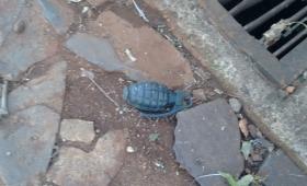 #Fotonoticia: hallan una granada en barrio Patotí