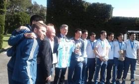 Los campeones mundiales de futsal llegaron al país