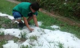 Fuerte granizada en Campo Viera y Campo Grande