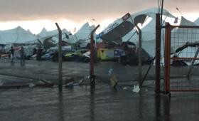 Entre Ríos: una cola de tornado arrasó con el TC Mouras