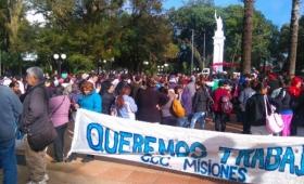 Representación de Misiones en la marcha multisectorial