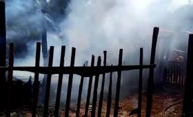 Video: voraz incendio en una vivienda de San Onofre