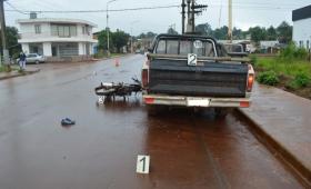 Falleció motociclista que chocó una camioneta estacionada