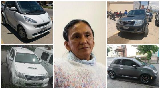 """Conozca al """"flota"""" de autos secuestrados a Milagro Sala"""