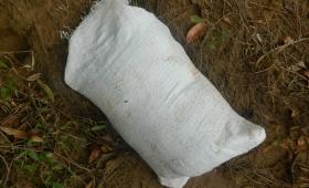 Encuentran una bolsa con más de 7 kilos de droga