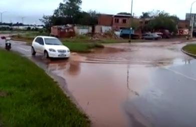 Inundación en zona costera del Barrio Santa Rosa