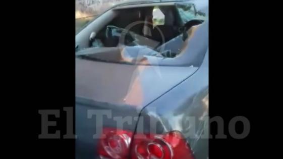 Le destrozó el auto por no pagar la cuota alimentaria