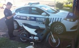 Niño de 12 años conducía una moto por Posadas