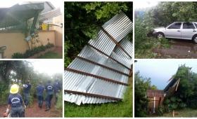 Iguazú: el temporal lo dejó en la calle