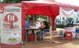 Promocionan donación de sangre voluntaria para niños con cáncer