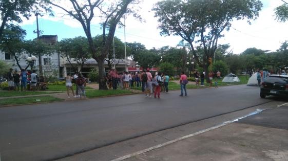 Organizaciones de desocupados acampan frente al Iprodha