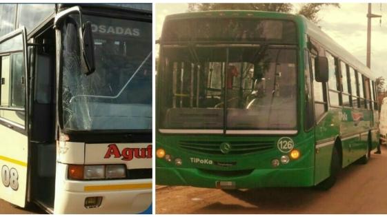Garupá: choque de colectivos terminó con dos pasajeras hospitalizadas