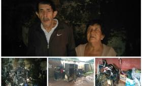 Incendio del Bº San Juan Evangelista dejó a dos abuelos sin nada