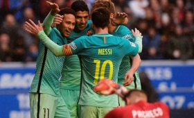 Barcelona humilló al Alavés, con un tanto de Messi