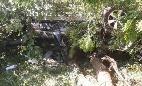 Camioneta despistó, volcó y chocó un árbol; un muerto