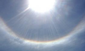 Un halo solar sorprendió a los misioneros