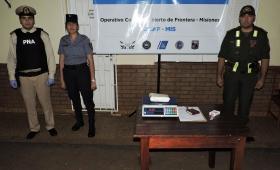 Secuestraron un kilo de cocaína y detuvieron a un hombre