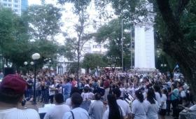 Gran convocatoria cristiana en la plaza 9 de Julio