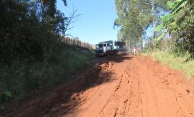 La ruta 219 abandonada y en pésimo estado