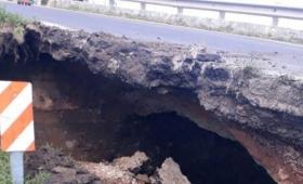 Corrientes: tránsito cortado en ruta 123 por peligro de derrumbe