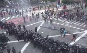 Violento desalojo de piquete en Buenos Aires