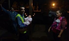 Policía héroe salvó a una beba