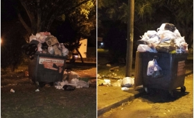 Fotonoticia: Contenedores de la Zona Oeste estallan de basura