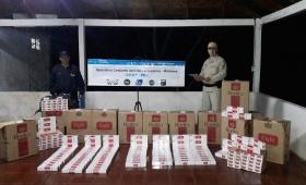 Incautaron casi 16 kilos de marihuana y más de 7 mil atados de cigarrillos