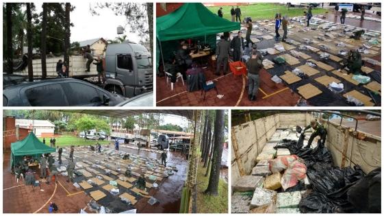 Campo Grande: secuestran cuatro toneladas de droga