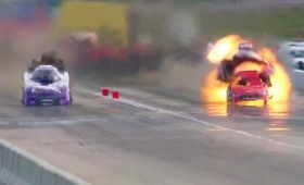 Milagro: explota su auto, se prende fuego y sale ilesa