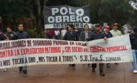 Movilización de trabajadores de seguridad del Samic de Eldorado