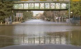 Por la rotura de un caño de agua, se inundó Palermo