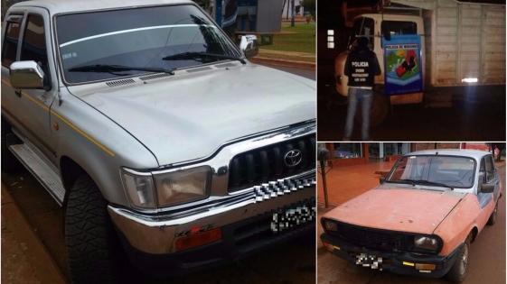 Secuestraron tres vehículos en San Vicente